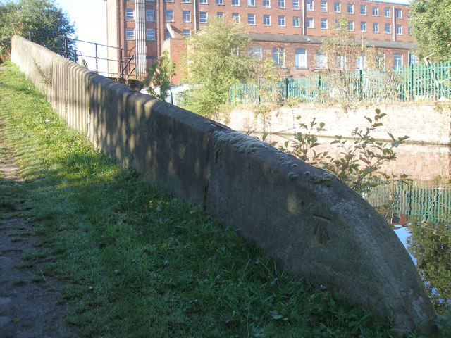 Benchmark on canal footbridge 27A