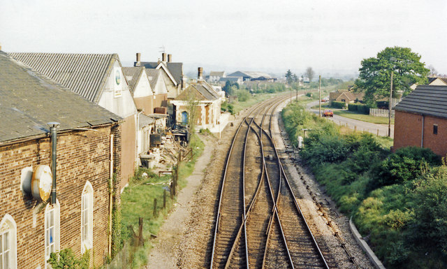 Charfield station (remains), 1987