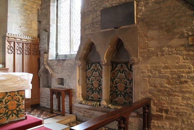 Sedilia and Piscina, St Andrew's church, Folkingham