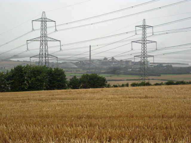 Stubble Field and Pylons