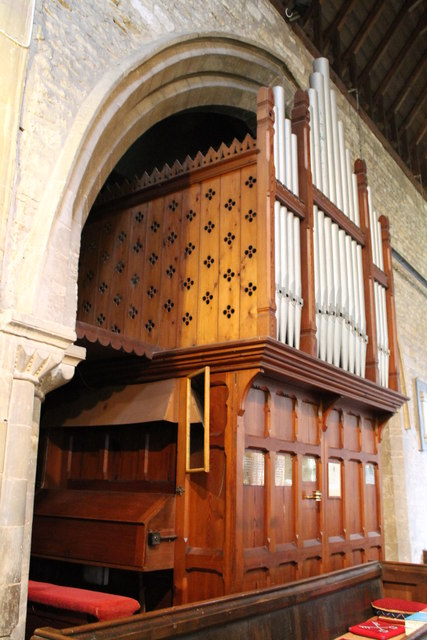 The Organ, St Andrew's church, Folkingham