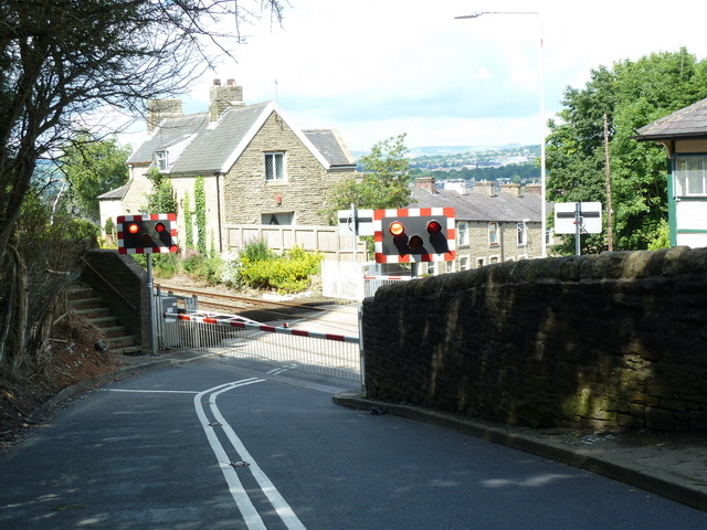 Level crossing on Moseley Road, Burnley