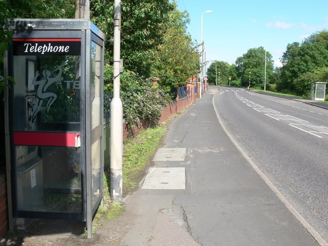 Phone box in Asfordby Hill
