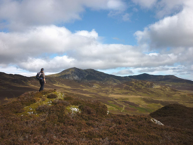 Ben Vrackie and Carn Geal from Creag Chuinnlean