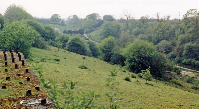 Site of Chilcompton station, 1987