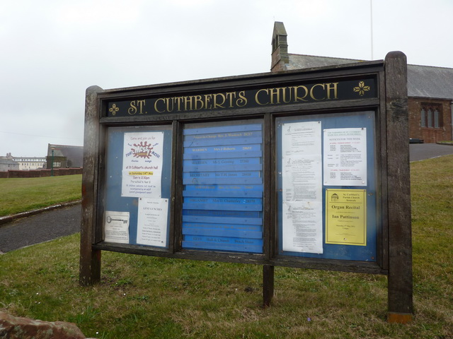 St Cuthberts Church, Seascale, Noticeboard
