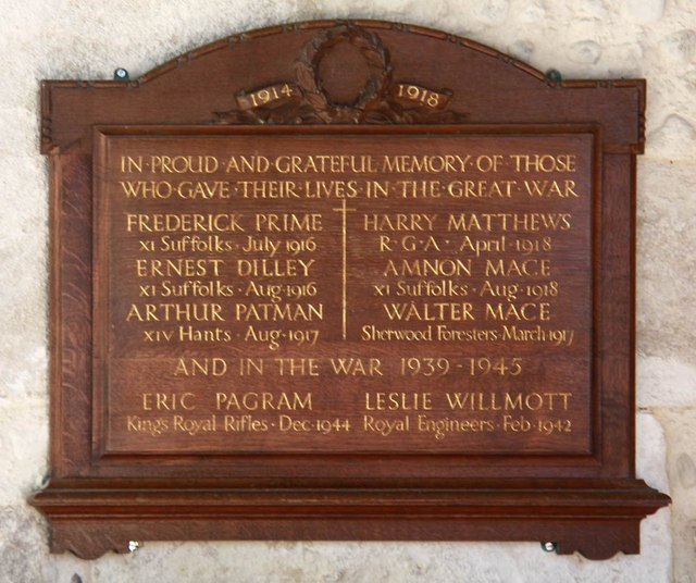 Assumption of the Blessed Virgin Mary, Harlton - War Memorial