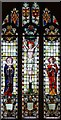 TL4055 : St Peter, Barton - Stained glass window by John Salmon