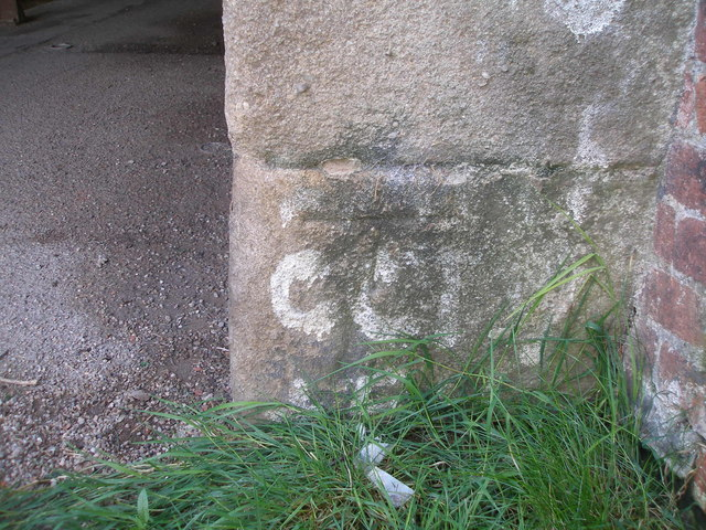 Benchmark on Beswick Street canal bridge