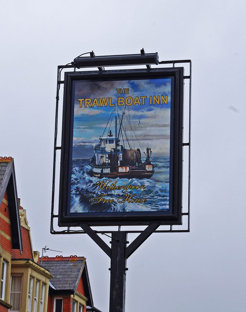 The Trawl Boat Inn (2) - sign, 36-38 Wood Street, St. Annes-on-Sea