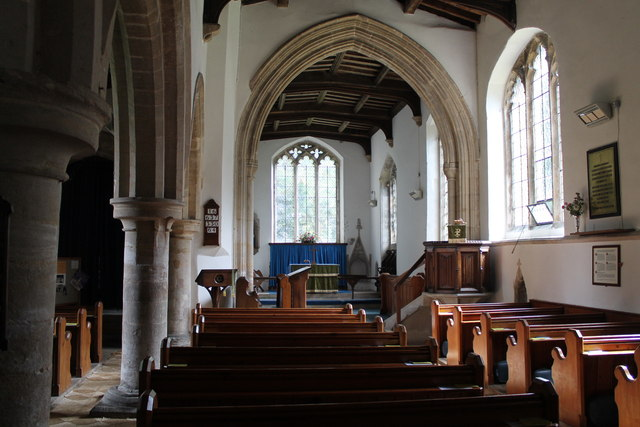 Interior, St Mary's church, Bainton