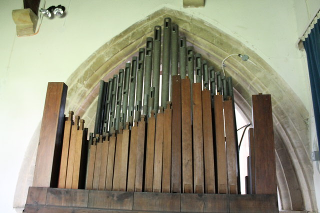 Organ pipes, St Mary's church, Bainton