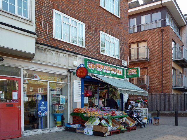 Post Office and fruit and vegetable shop, Crown Point, Upper Norwood