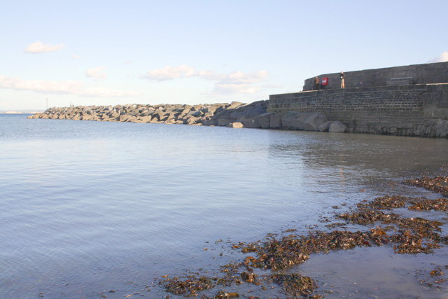 View of The Cobb harbour wall and breakwater