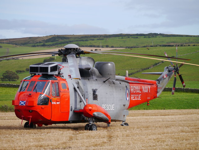 Sea King Near Ettrick Bay