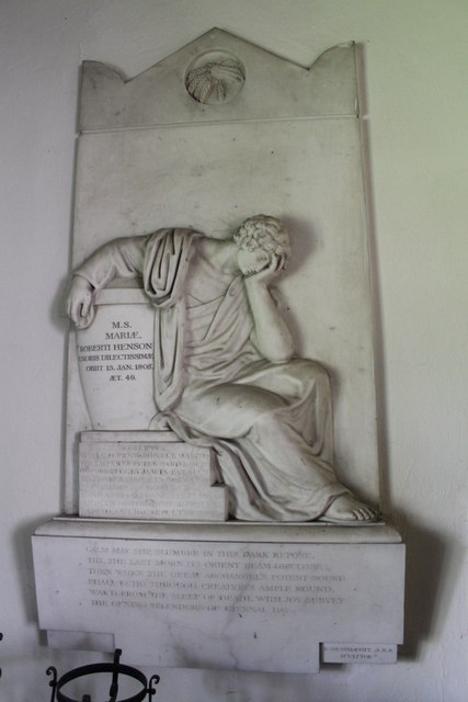 Memorial to Mary Henson, St Mary's church, Bainton