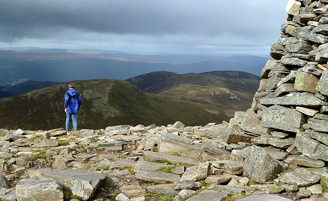 A hill runner on Meall a� Bhuachaille