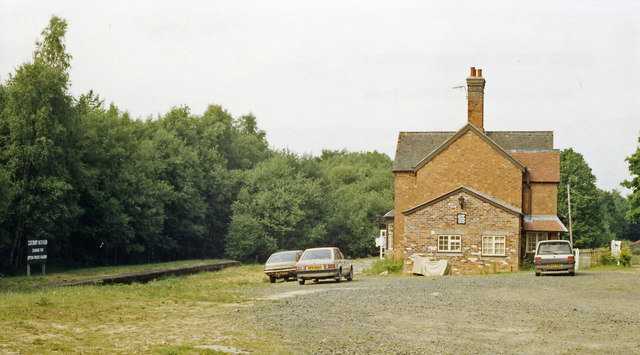 Cleobury Mortimer station (remnants), 1988