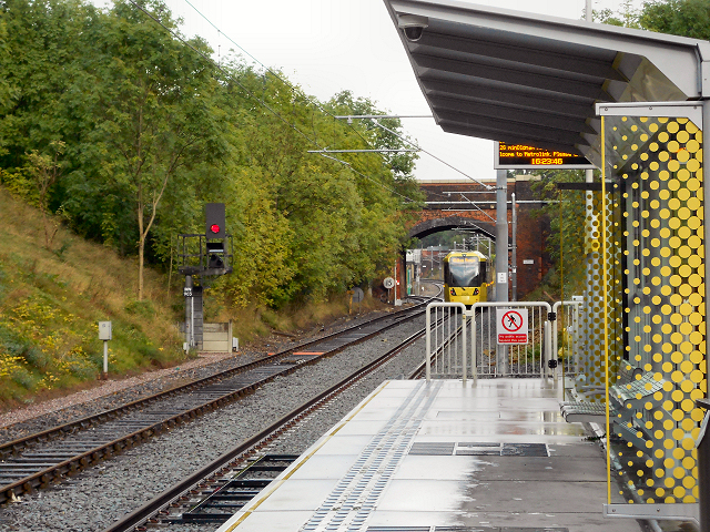 Metrolink Station at Newton Heath