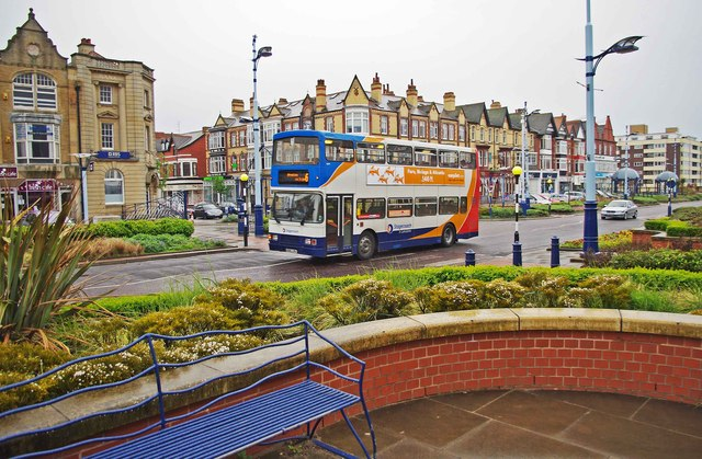 Stagecoach bus in St. Anne's Road West, St. Annes-on-Sea