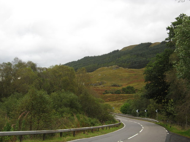 The A85 heading through Glen Dochart