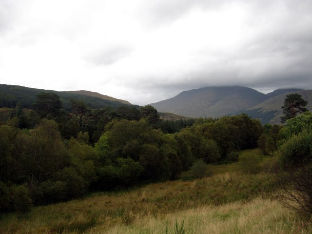 The scene in Strathfillan near Inverherive House