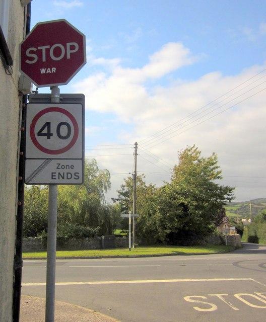 Stop war, Musbury Cross