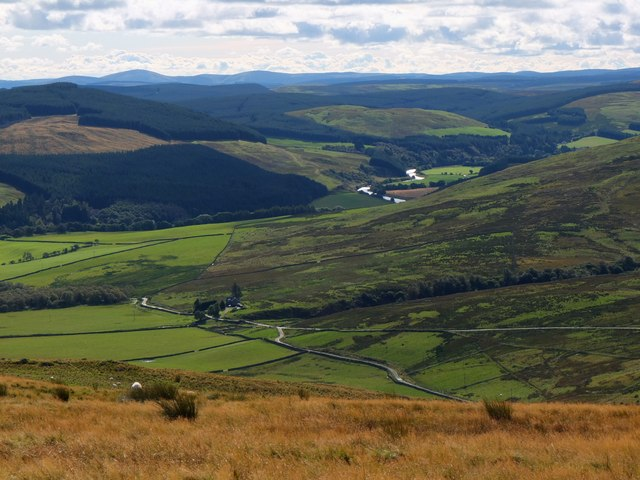 The Ettrick Valley from Tower Hill