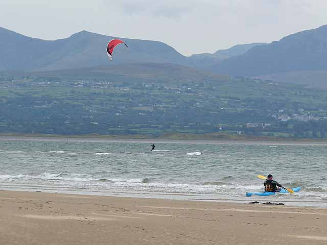 Watersports off Newborough Beach