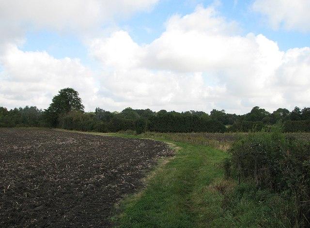 Permissive path near Coton