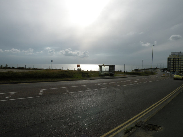 Sun, sea and bus shelter