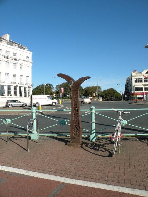 Millennium Milepost, Brighton sea front