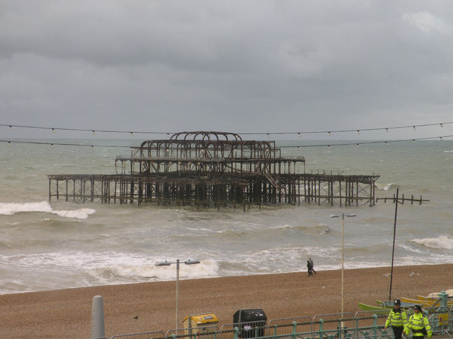 West Pier from the Brighton Centre