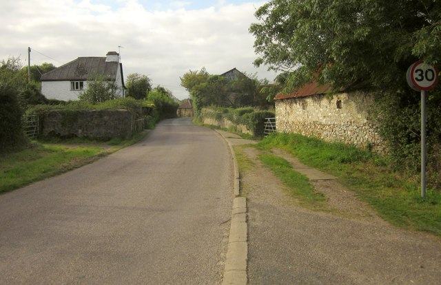 Road entering Whitford
