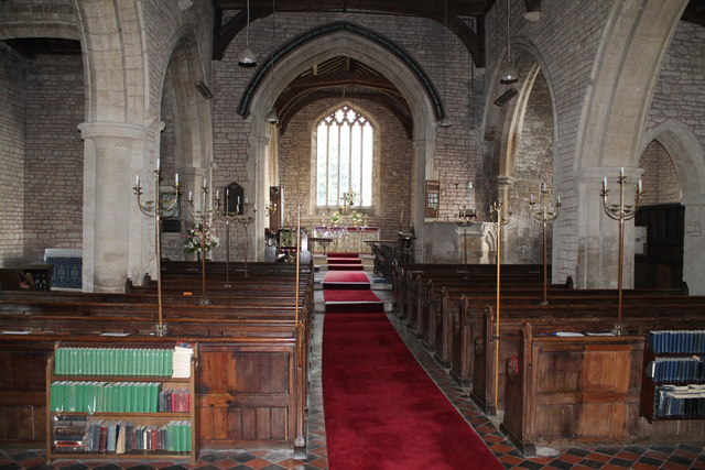 Interior, St Lawrence church, Tallington