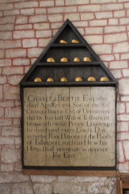 Memorial to Charles Bertie, St Lawrence, Tallington
