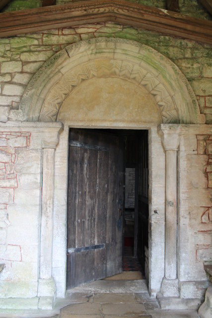 12th Century door, St Lawrence's church, Tallington