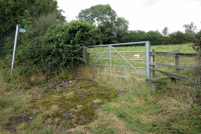 Path and stile into the village