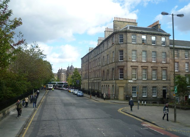 Lauriston Place from a No.35 bus