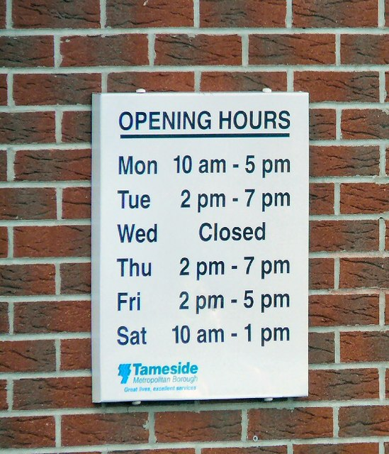 Opening Hours at Newton Library
