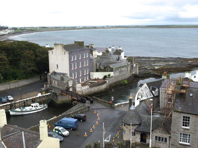 Swing bridge in the harbour
