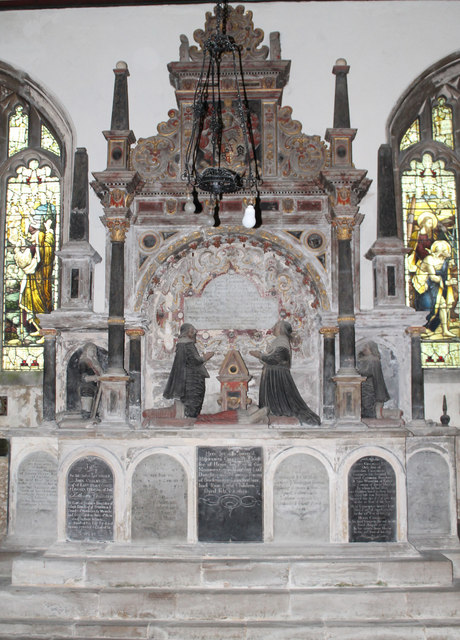 Memorial to Cholmely Family, Stoke Rochford church