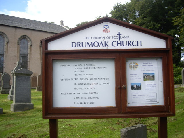 Church of Scotland notice board, Drumoak Church