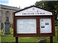 NO7999 : Church of Scotland notice board, Drumoak Church by Stanley Howe