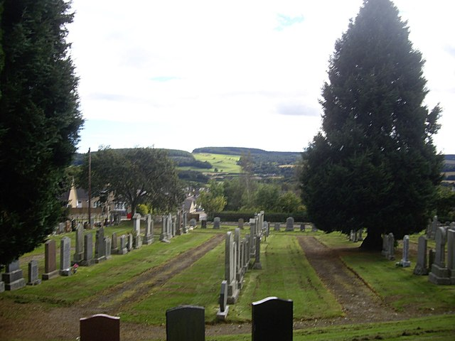 The graveyard below Drumoak Church