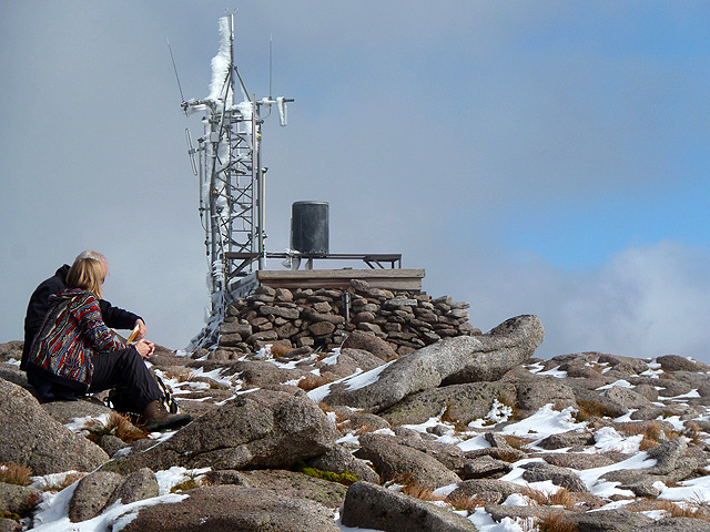 The radio relay station and weather station on Cairn Gorm
