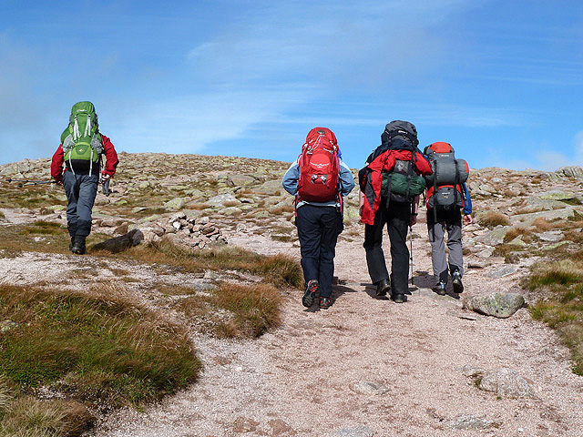 Hill walkers in the Cairngorms