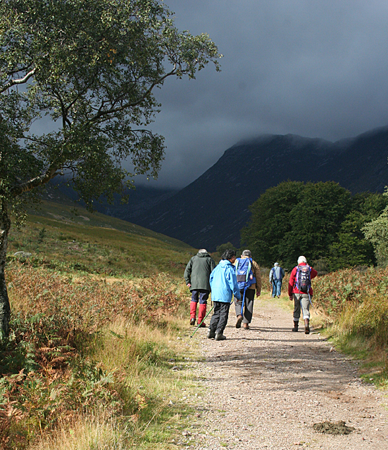 Walkers in Glen Sannox