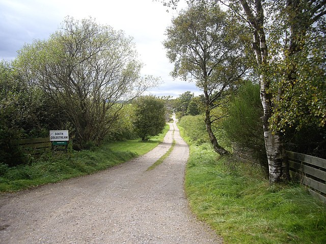 Access lane to South Coldstream