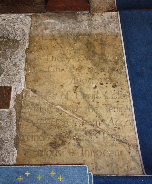 St Giles, Mountnessing - Ledger slab